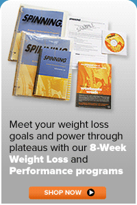 Purchase the Spinning 8-Week Weight Loss Program at www.spinning.com